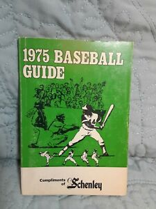 1975 Baseball Guide: Pocket Size, Compliments of Schenley: Hank Aaron drawing
