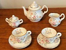 More details for rare vintage english fine bone china miniature tea set by enna dlorah - free p&p