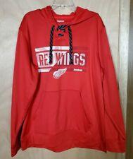 Detroit Red Wings Reebok Hoodie Size XL