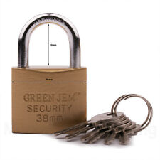 PADLOCK 38mm GOOD QUALITY SHACKLE SOLID STRONG METAL SECURITY GARAGE SHED LOCK