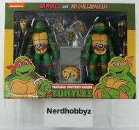 NECA TMNT Teenage Mutant Ninja Turtles Raphael and Michelangelo - In Hand