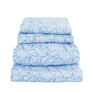 Beautiful Bedding Super Soft Comfort Floral 6 pcs Sheet Set Blue Paisley