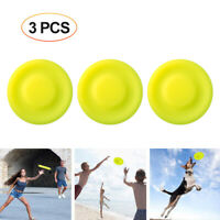 3Pcs New Flying Disc Catching Soft Pocket Mini Frisbee Parent Child Time  Yellow