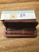 Boeing Textured Wood Pen and Pencil Set