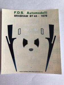 1/43 F1 DECALS CAR BRABHAM BT 46 1978 GRAND PRIX GP DECAL Car Collection