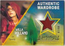 Cryptozoic Arrow 4 Costume Wardrobe Relic Card Willa Holland Speedy M12 97/99