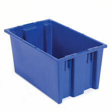 Stack And Nest Shipping Container No Lid 18x11x6 Blue Lot Of 6