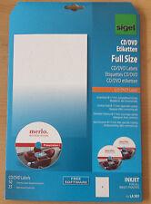 sigel CD/DVD Etiketten weiss spezialbeschichtet 50 Stck LA 501#