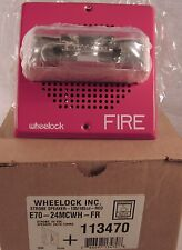 Wheelock Fire Alarm Series E Speaker/Strobe Red E70-24Mcwh – Fr 113470