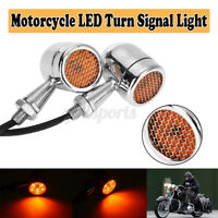 2x LED Universal Motorcycle Motorbike Turn Signal Indicators Light Lamp