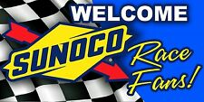 SUNOCO Welcome Race Fans! Racing Gasoline Garage Art Trailer Banner Sign 4x8'