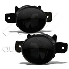 For Altima Maxima Sentra Versa Replacement Fog Lights Bumper Lamps - Super Smoke