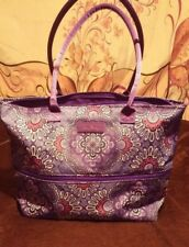 NWT VERA BRADLEY LILAC TAPESTRY LIGHTEN UP EXPANDABLE TOTE