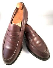 "CHURCH'S ""Darwin"" (10 G) Pelle di Vitello Marrone Mocassini Scarpe Grado Personalizzato"