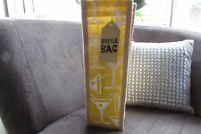 Yellow Cocktail Glass Jute Bottle Bag new with tags