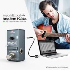 municionon nano Loop guitarra eléctrica efecto pedal Looper 10min grabación E4K6
