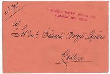 "BUSTA INTESTATA REGGIMENTO FANTERIA 18º Reggimento fanteria ""Messina"" 21-222"