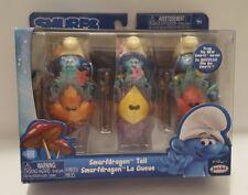 NEW Smurfs Lost Village Smurfdragon Tail Figures Jakks Pacific 3 Pack