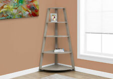"""Monarch Specialities Bookcase - 60""""H / Dark Taupe Corner Accent Etagere (I2424)"""