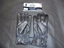Webtex British Military Style Black Leather Gloves Combat Warm Weather - Size L