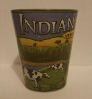 Indiana State Wraparound Shot Glass - Indiana Memories  Farm Scene