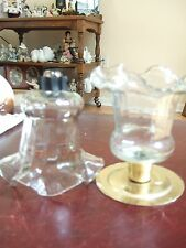 Home Interior Pair of Victorian Wave Cristal votive cups (Reduced