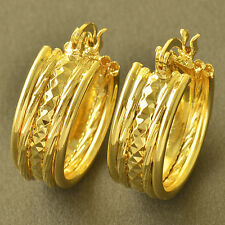 Ear Womens Hoop earing Free Shipping Simple 9K Yellow Gold Filled Small Round