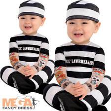 Baby Prisoner Boys Fancy Dress Convict Criminal Toddler Infants Childs Costume