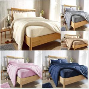All sizes Original Teddy Mattress Bed Fleece Fitted Sheet Premium Quality