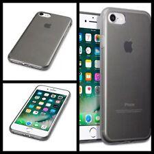 IPhone 7 resistente agli urti ad alta densità di protezione Micro Gel Custodia Fumo Nero