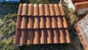 Monier Villa Concrete Roof Tiles - Terra Cotta Color