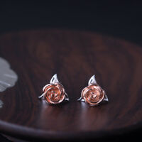 Fashion Unique Rose Flower Shape Stud Earrings  For Women Elegant Accessories.