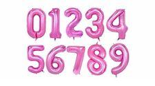 XXL 100CM Nummer Zahl Luftballon Folienballon Geburtstag Jubiläum Deko pink rosa