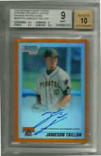 2010 Bowman Draft Chrome Jameson Taillon Orange Refectator BGS 9 Auto #5/25