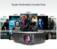 Full HD 4000LM 800x600 Home Cinema Theater LED Projector USB 3D TV 1080P VGA US