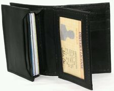 YAALI Card Holder BROWN Cowhide Leather MINI/STUDENT WALLET 10+ CARDS 1 ID YL142