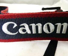 Canon EOS Digital Neck Strap Original Genuine red white on grey Free Shipping US