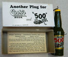 Indianapolis 500 New old Stock from F.& W. Cook's Beer Bottle Fishing Lure