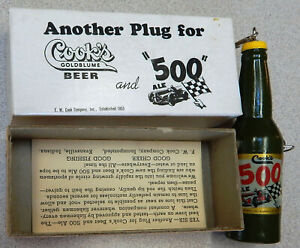 1950's  Indianapolis 500 New old Stock & F. W. Cook's Beer Bottle Fishing Lure