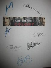 Colony Signed TV Script Josh Holloway Sarah Wayne Callies Righetti Kittles repnt