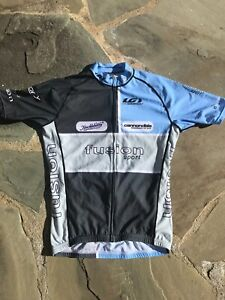 louis garneau jersey blue and gray size small