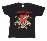 Ed Hardy Mens Shirt Black Size Large L Love Kills Slowly Graphic Tee $60 #022