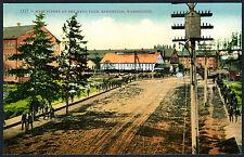 Bremerton,Washington Main Street Bustling Scene&Navy Yard~Antique 1910s Postcard