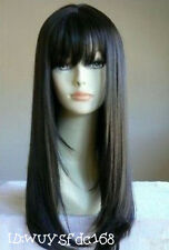 New Sexy health woemen 's hair long black wig + Free wig cap NO:189