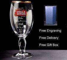 Personalised Stella Pint Glass Anniversary Gift