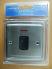DETA 1934SCB DECORATIVE 20A 2 POLE (DP) SWITCH SATIN CHROME black switch