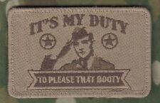 AFG-PAK JSOC ISAF TALIZOMBIE WHACKER OPERATOR VELCRO FUN TAB: My Duty is BOOTY b
