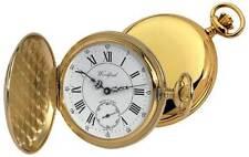Reloj De Bolsillo Completo Cazador chapado en Oro Números Romanos - woodford1009