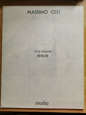 Massimo Osti - LP - City Berlin Sound - Copertina Disegnata Dall'autore - 1987