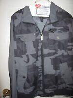 INC mens camo jacket grey and black size medium